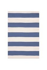 Dash & Albert Catamaran Stripe Denim/Ivory Indoor/Outdoor Rug 2x3
