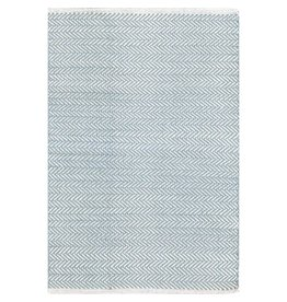 Dash & Albert Herringbone Swedish Blue Woven Cotton Rug 2x3