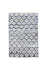 Dash & Albert Denim Rag Diamond Ivory Woven Cotton Rug 3x5