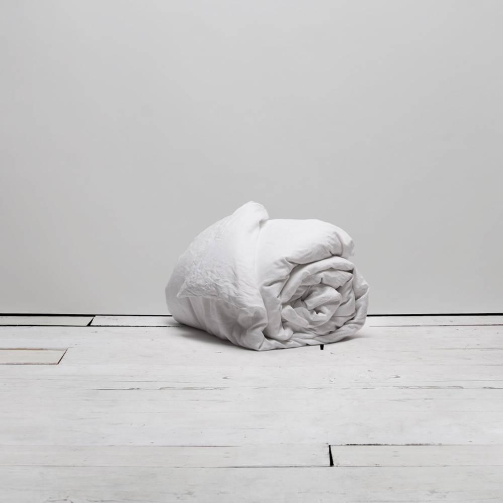 Matteo Vintage Linen duvet White King