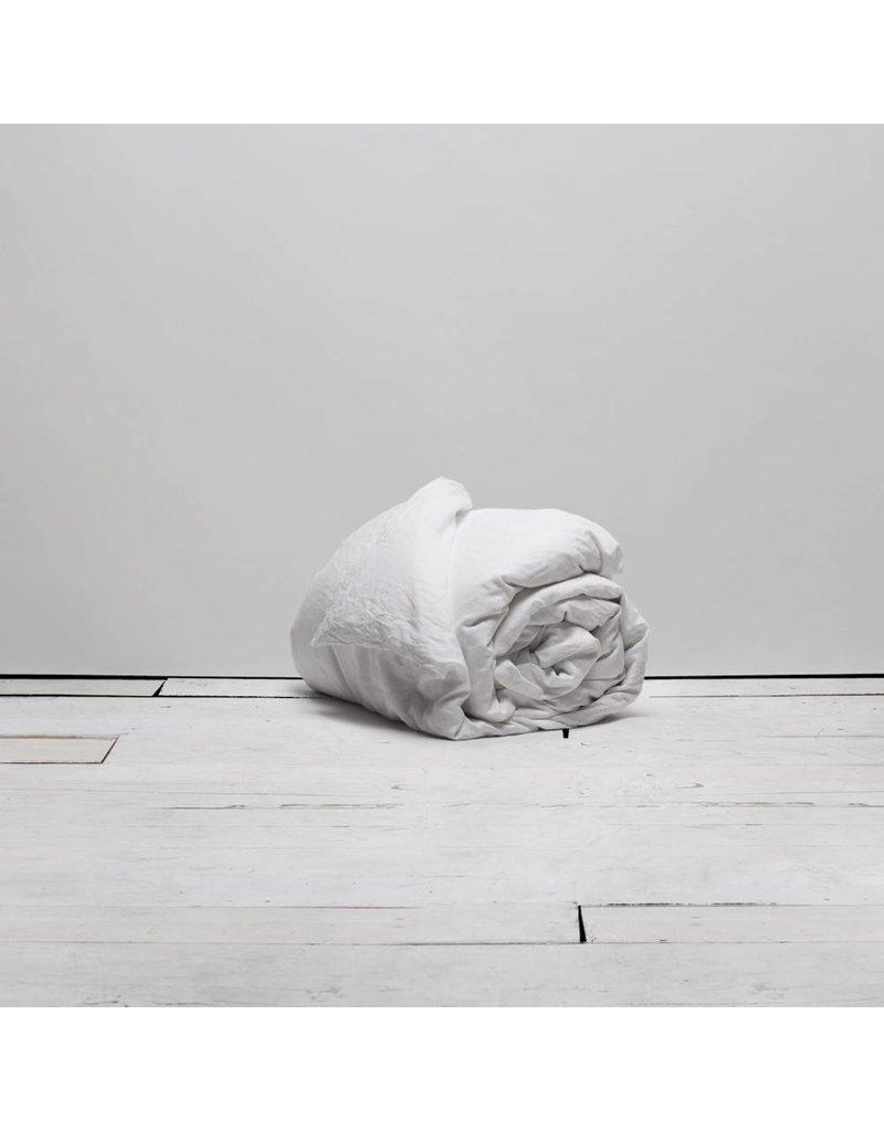 Matteo Vintage Linen duvet White Queen