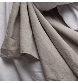 Matteo Vintage Linen flat sheet White Queen