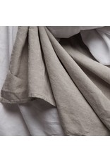 Matteo Vintage Linen flat sheet Greige King