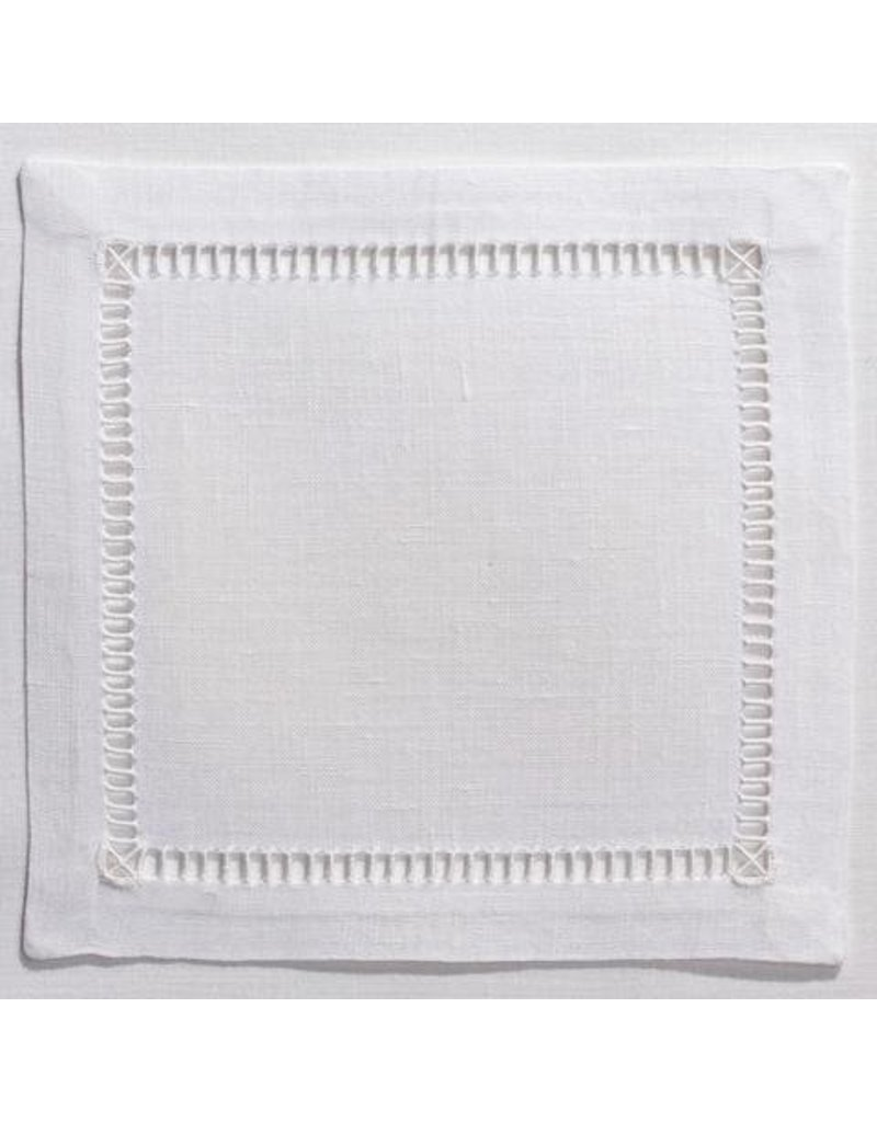 Pure Linen White Cocktail set of 4