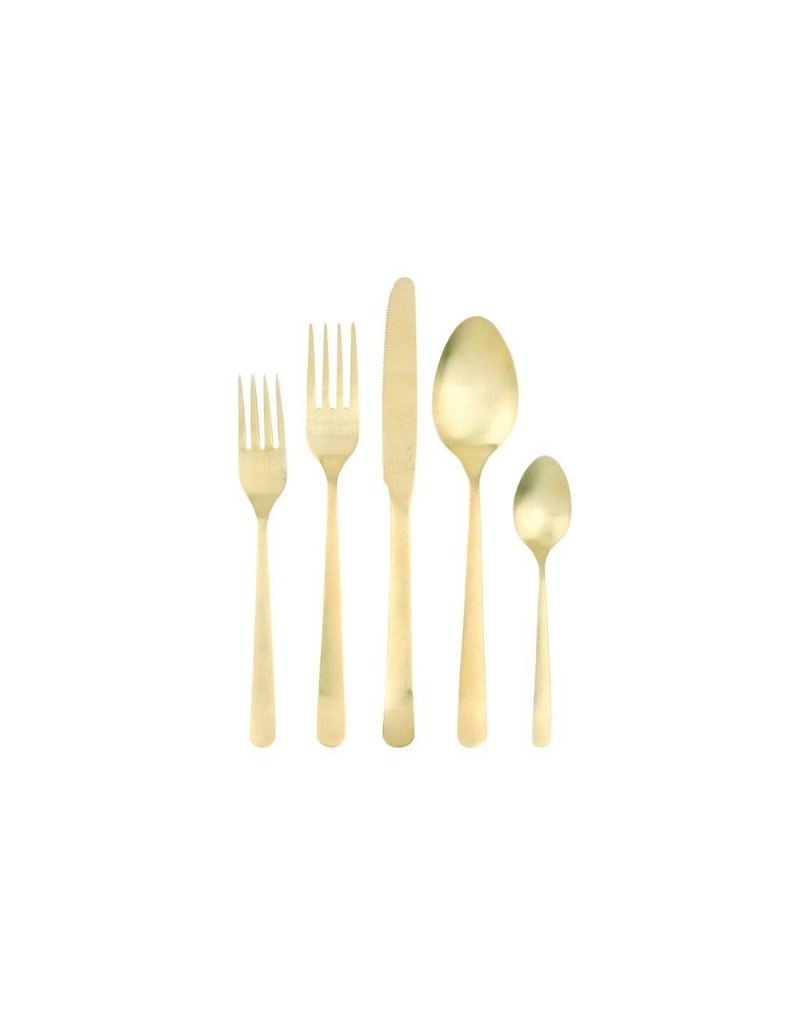 Canvas Home Oslo Cutlery Set 5pc Matte Gold