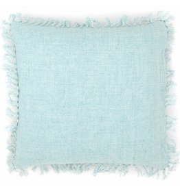 """Pine Cone Hill Laundered linen sky decorative pillow 20"""""""