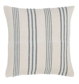 Pine Cone Hill Swedish stripe woven cotton pillow