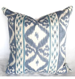 "Rapallo blue 21"" pillow"