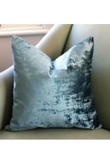"""Etsy Brussels Blue Velvet Pillow 21"""""""