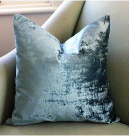 Etsy Brussels Blue Velvet Pillow 21""