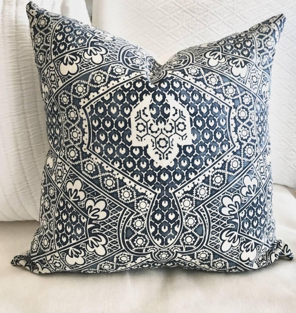 Ralph Lauren Blue Floral Pillow