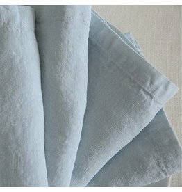 "Ashley Meier Fine Linens Stonewashed Linen 21"" Napkin - Ice Blue"