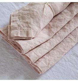 "Ashley Meier Fine Linens Stonewashed Linen Napkin, 21"" - Rosa"