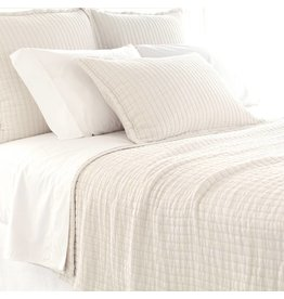 Pine Cone Hill Boyfriend Ivory matelasse coverlet King
