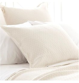 Pine Cone Hill Diamond ivory sham - king