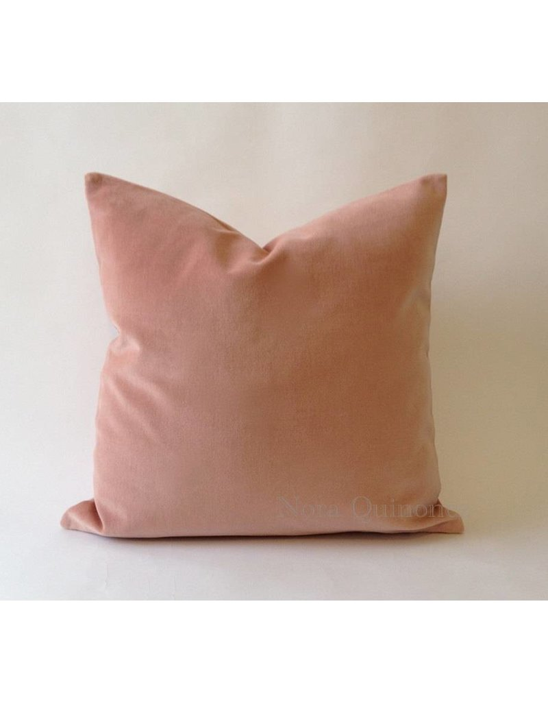 "NQ Rose Cotton Velvet 20"" x 20"" pillow with insert"