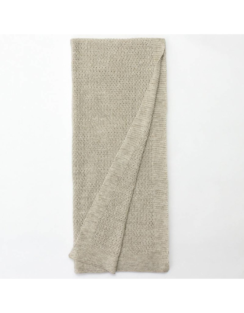 Amity Home Lanier linen Throw, Natural