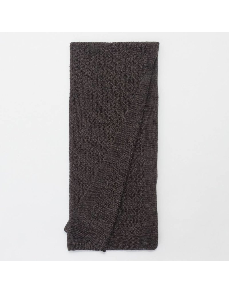 Amity Home Lanier linen Throw, Asphalt