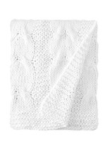 Amity Home Micah knitted cotton Throw White