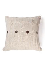 Amity Home Micah knitted cotton Pillow Natural