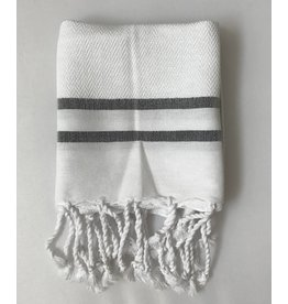 Scents and Feel Guest towel herringbone, White/Black stripes