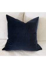 AM Navy Blue Velvet Pillow