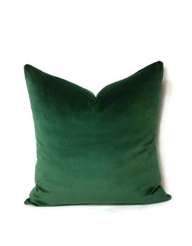 AM Emerald Velvet Pillow
