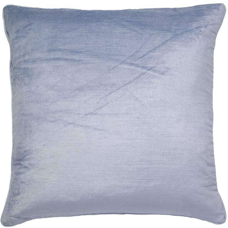 India's Heritage Skyblue Shimmer Linen Weave Velvet Pillow Cover 22x22