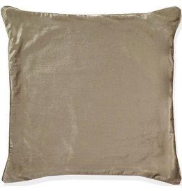 India's Heritage Beige Shimmer Linen Weave Velvet Pillow Cover 22x22