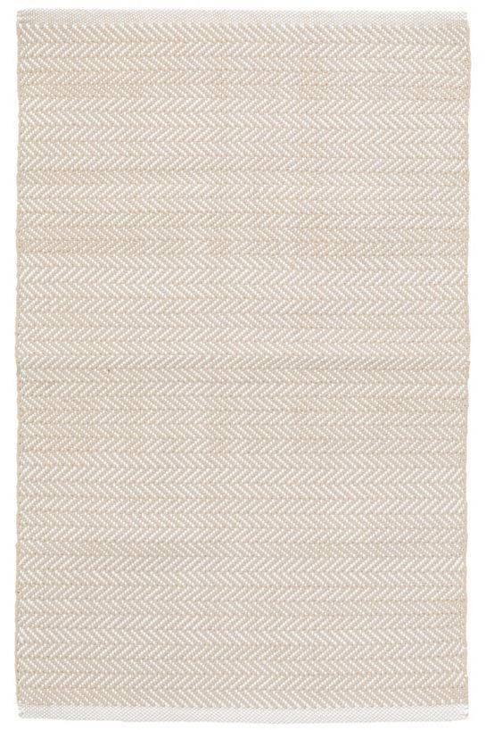 Dash & Albert Herringbone linen indoor outdoor rug c3- 6 x 9