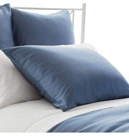 Pine Cone Hill Silken Solid Storm Blue Pillowcases Standard