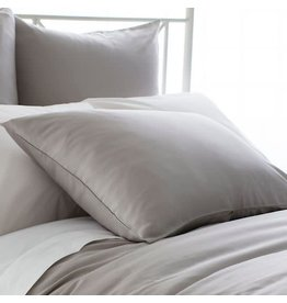 Pine Cone Hill Silken Solid Grey Pillowcases Standard