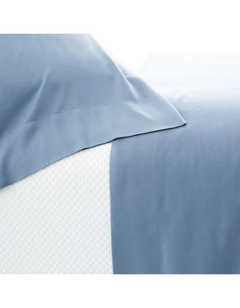 Pine Cone Hill Silken Solid Storm Blue Sheet Set Queen