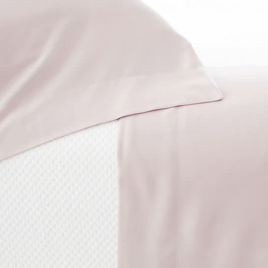 Pine Cone Hill Silken Solid Slipper Pink Sheet Set Queen