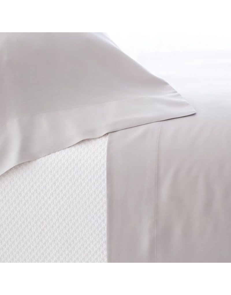 Pine Cone Hill Silken Solid Grey Sheet Set King