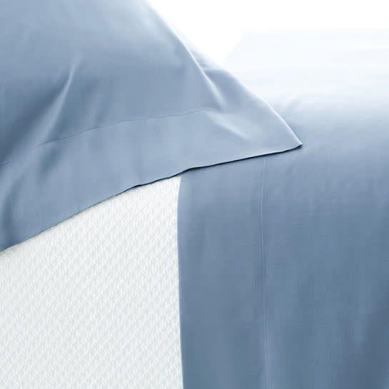 Pine Cone Hill Silken Solid Storm Blue Sheet Set King