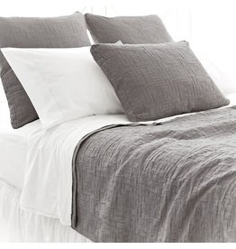Pine Cone Hill Boxed Euro Pillow Sham Baja Matelasse Anthrocite