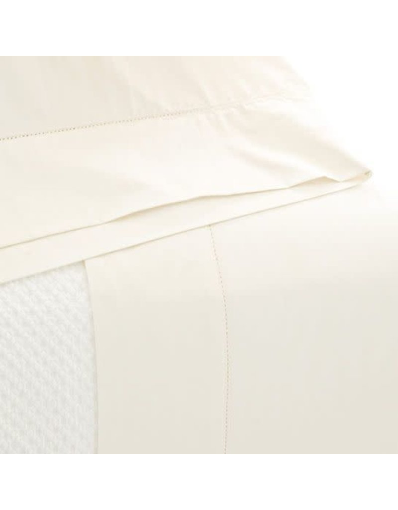 Pine Cone Hill Classic Hemstitch Ivory Sheet Set - King