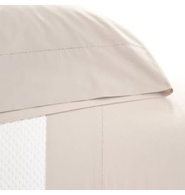Pine Cone Hill Classic Hemstitch Platinum Sheet Set King