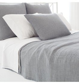 Pine Cone Hill Brooklyn Grey Matelasse Queen Coverlet