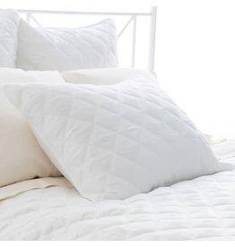 Pine Cone Hill Quilted silken solid white sham - Standard