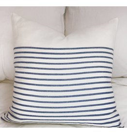 Sugar Feather 3/4 stripe 22x22, Denim blue