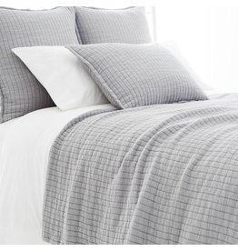 Pine Cone Hill Boyfriend grey matelasse coverlet-king