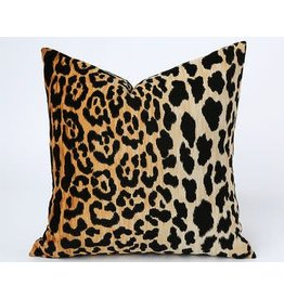 Leopard velvet designer pillow 18x18
