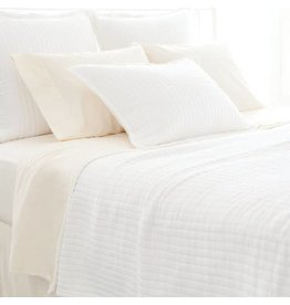 Pine Cone Hill Boyfriend white matelasse coverlet King
