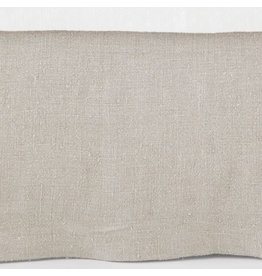 Pine Cone Hill Stone Washed Linen Natural Tailored Paneled Bed Skirt Full/Queen