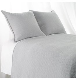 "India's Heritage King  ""INDI"" Coverlet Diamond Mattelasse Light Grey"