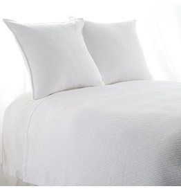 "India's Heritage Queen ""INDI"" Coverlet Diamond Mattelasse White"