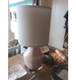 Designers Gallery White Dogwood Pink ceramic lamp