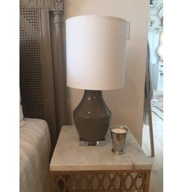 Designers Gallery Chelsea Gray ceramic lamp